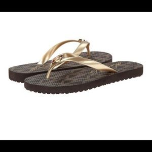 Michael Kors Shoes - 🌟 Michael Kors Gold Flip Flop